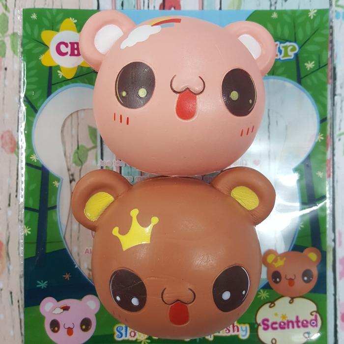 Squishy Murah Lovely Bear Head / Mainan Anak Perempuan / Squishy Murah / Rasyidtoys