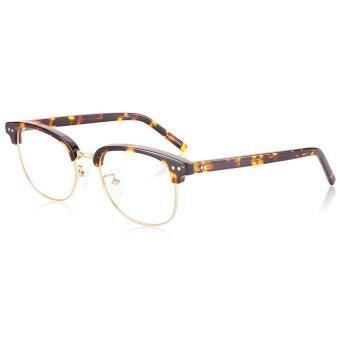 Pencarian Termurah Muḩāyil Retro Sastra bingkai kacamata Pria dan wanita Gaya  Korea pasang Kotak Setengah Bingkai b7c429385c