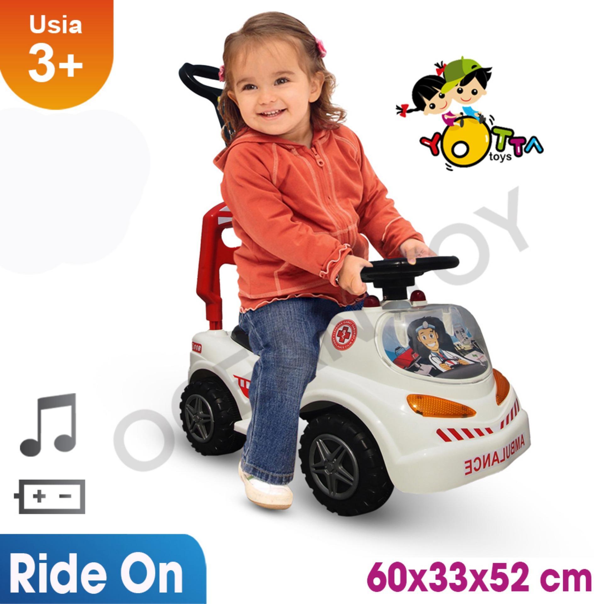 Ride On Mobil Ambulance / Khusus Jabodetabek / Mainan Ride On Anak / Bisa Musik Dan Suara / Profesi Anak / Ocean Toy Mab By Ocean Toy.