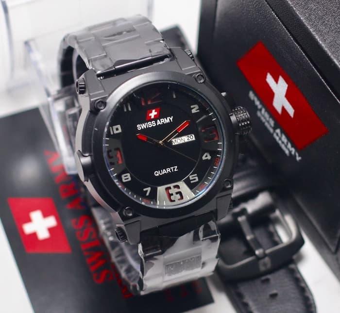 HOT PROMO  Jam Tangan Pria Swiss Army Tanggal Hari Paket ( Diesel Rolex Tissot )  /SALE