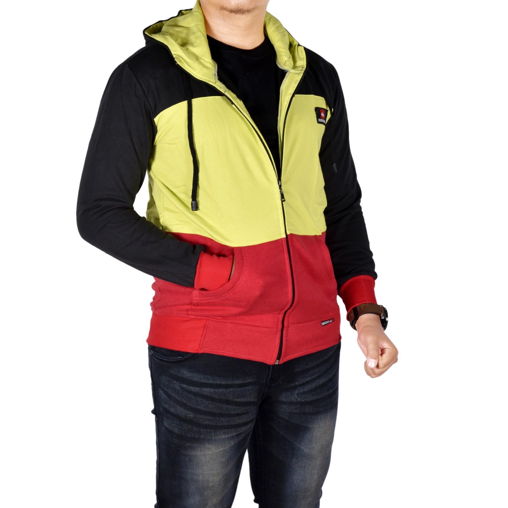 Dgm_Fashion1 Jaket Polos Murah Combinasi Warna /Jaket Denim/Jaket Parasut Pria/Jaket Bomber Pria/Ja