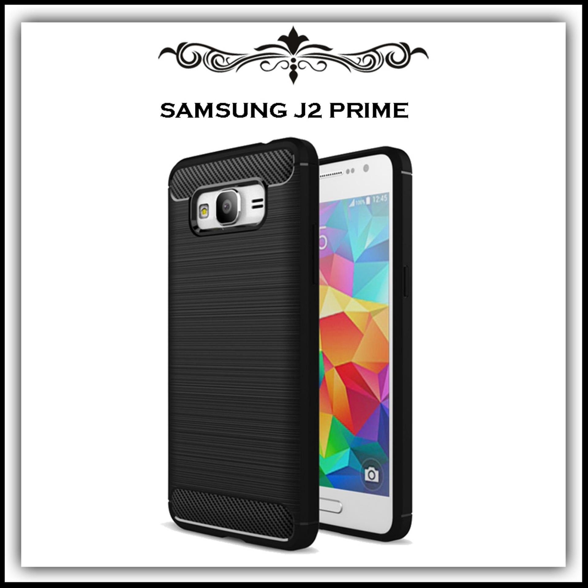 Mushroom Case Ipaky Carbon Fiber Shockproof Hybrid Elegant Case for Samsung Galaxy J2 Prime / G530