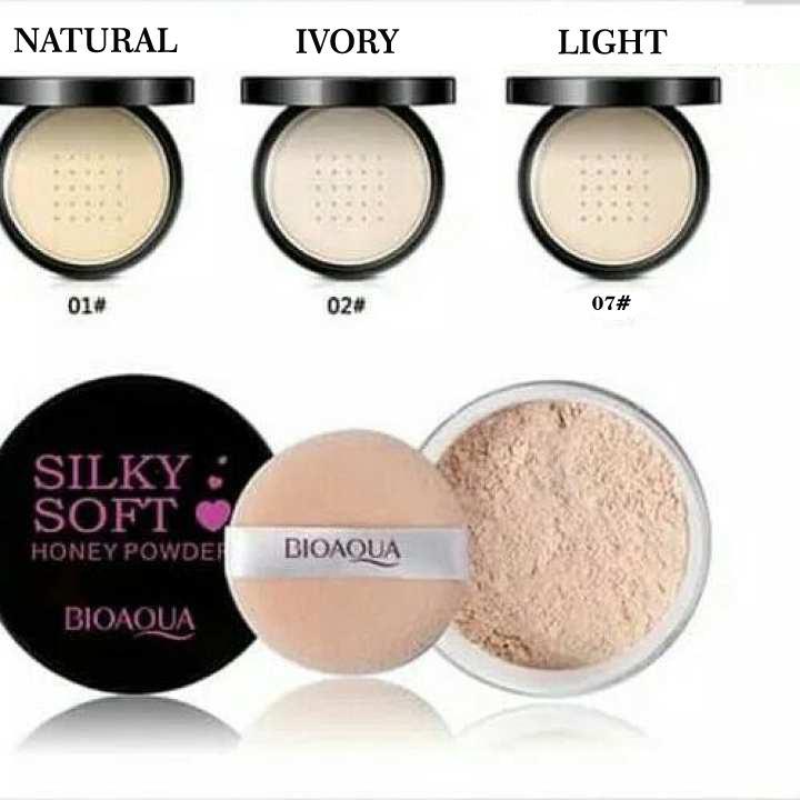 Bioaqua Silky Soft Honey Powder - Loose Powder - Bedak Tabur