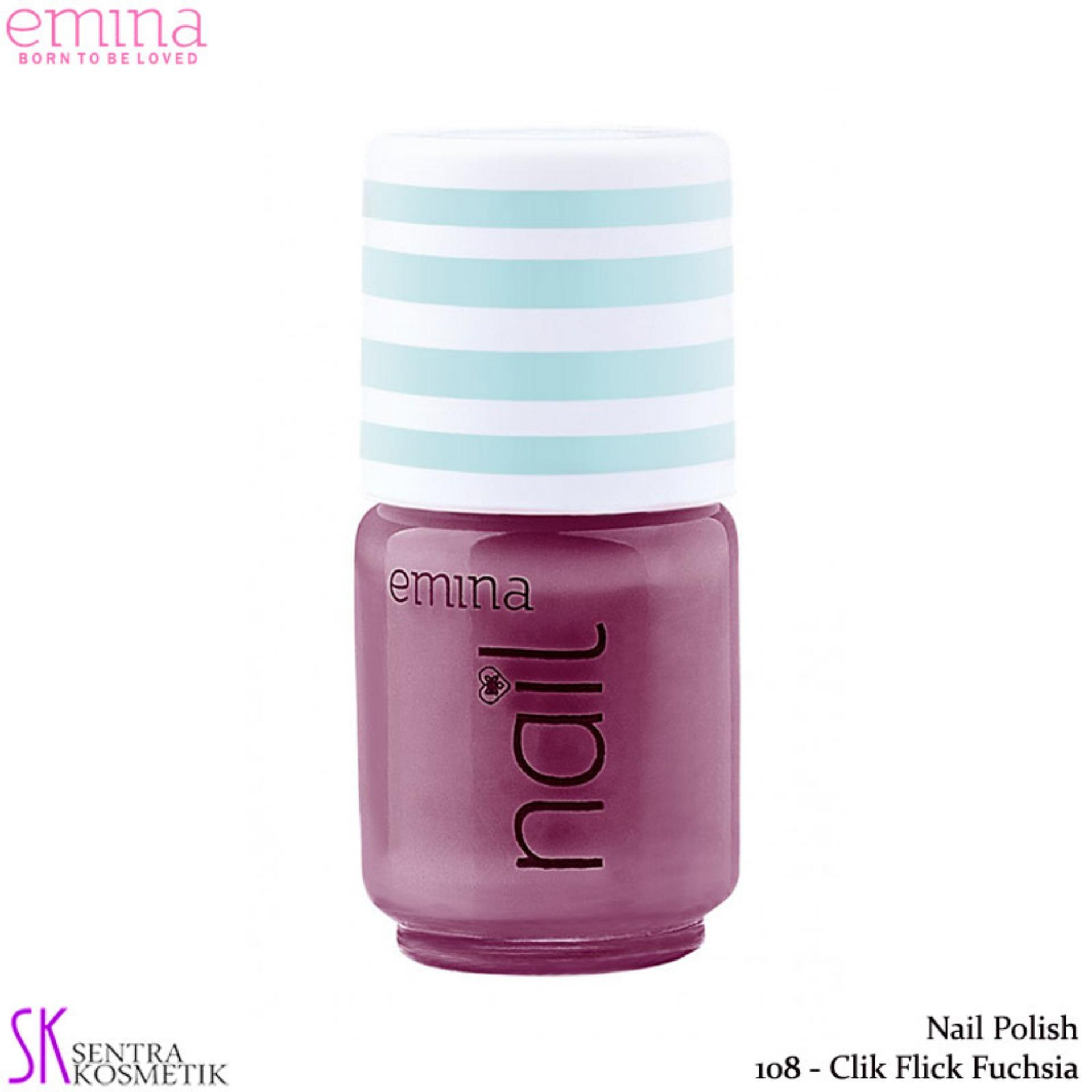 Emina Nail Polish Water Base 108 Chick Flick Fuchsia - 5 Ml By Sentra Kosmetik.