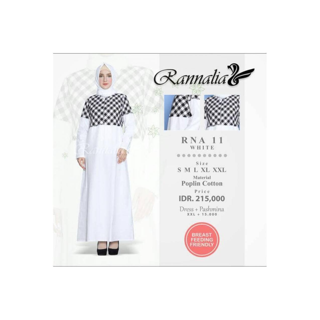 Gamis Phasmina XXL - Rannalia - RNA 11 - Dress Muslimah - Dress Simple