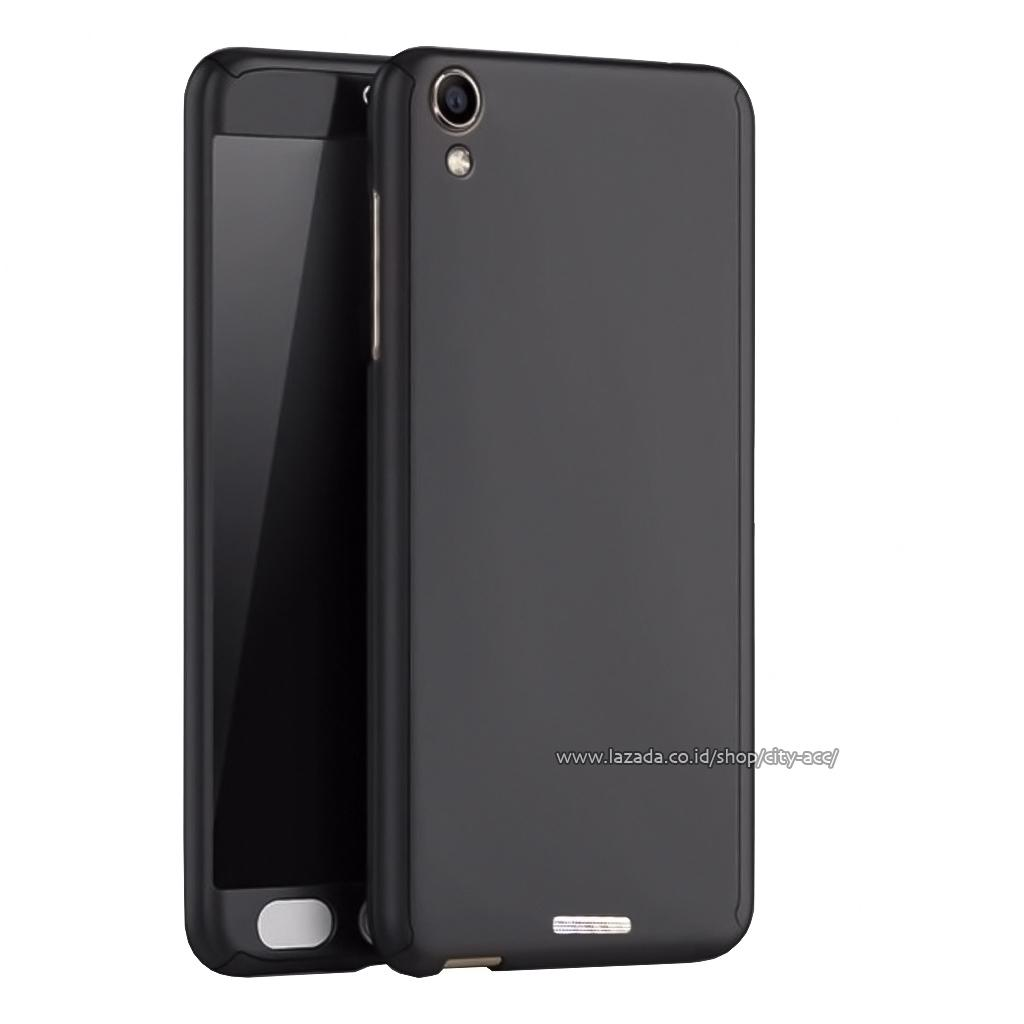 Case Front Back 360 Degree Full Protection for Infinix Hot Note 5,5 ( X551 ) - Black + Tempered Gla