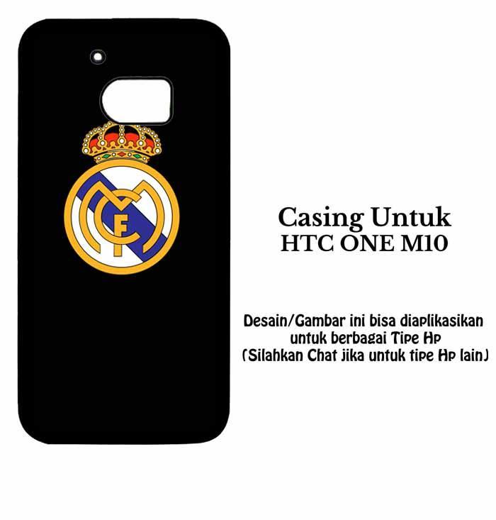 Casing HTC ONE M10 real madrid dark fix Custom Case Hardcase