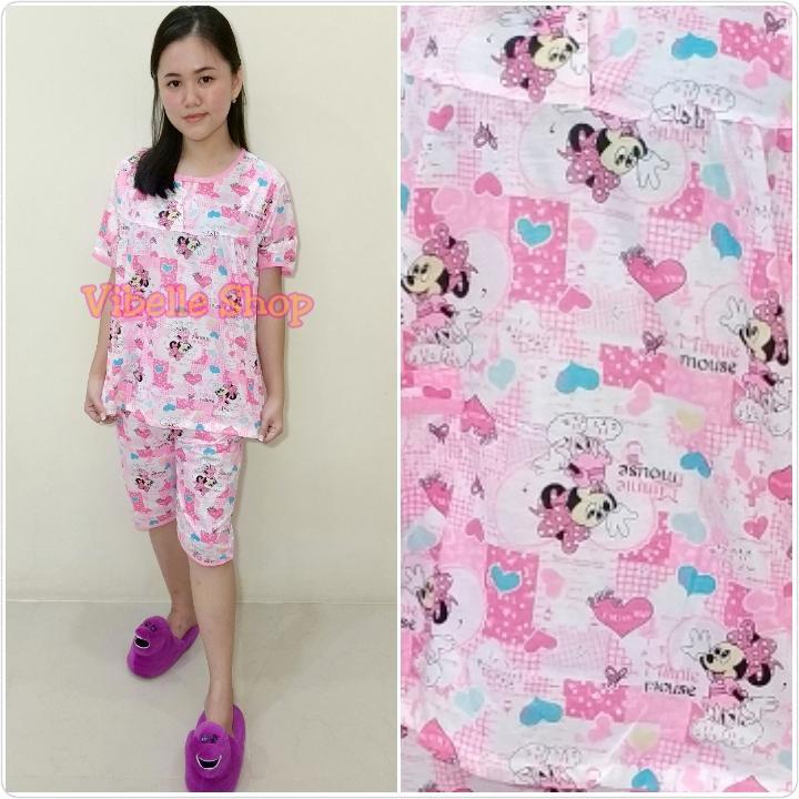 KT34xx - Vibelle shop grosir baju tidur katun piyama fashion