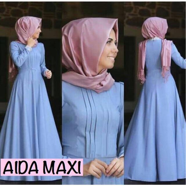Damai fashion jakarta - baju dress maxi wanita AIDA - konveksi murah tanah abang