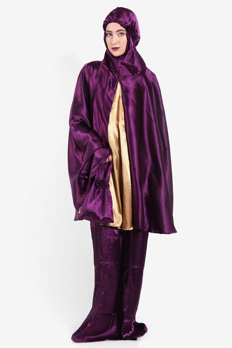 Buy Sell Cheapest Tatuis Andara Keisha Best Quality Product Deals Hijab Damour 072 Black Royal Caspian Purple