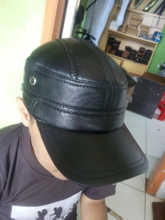 Topi pria Kulit domba asli Distro Garut Keren murah TOK-01