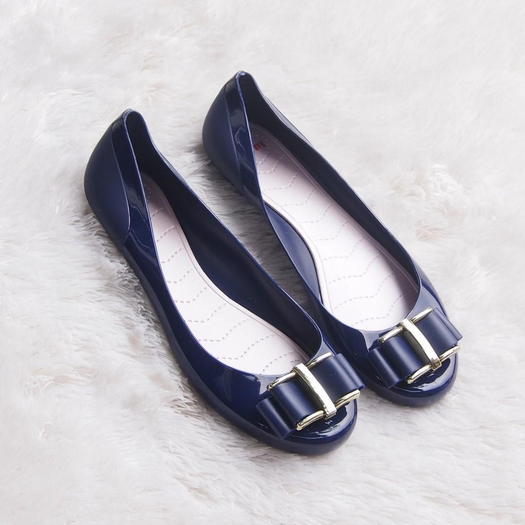 Termurah-Jelly Shoes Bara Bara Sepatu Wanita Flat Shoes Import 823DPT Warna Dikirim Random