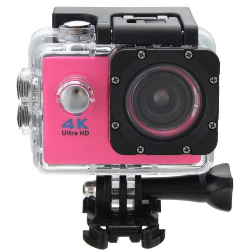 4 K HD 1080 P Wifi Ultra Tahan Air Olahraga Action Video Kamera Warna: Pink