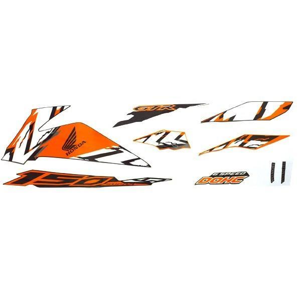 Sticker Body Kiri Black Orange – Supra GTR 150