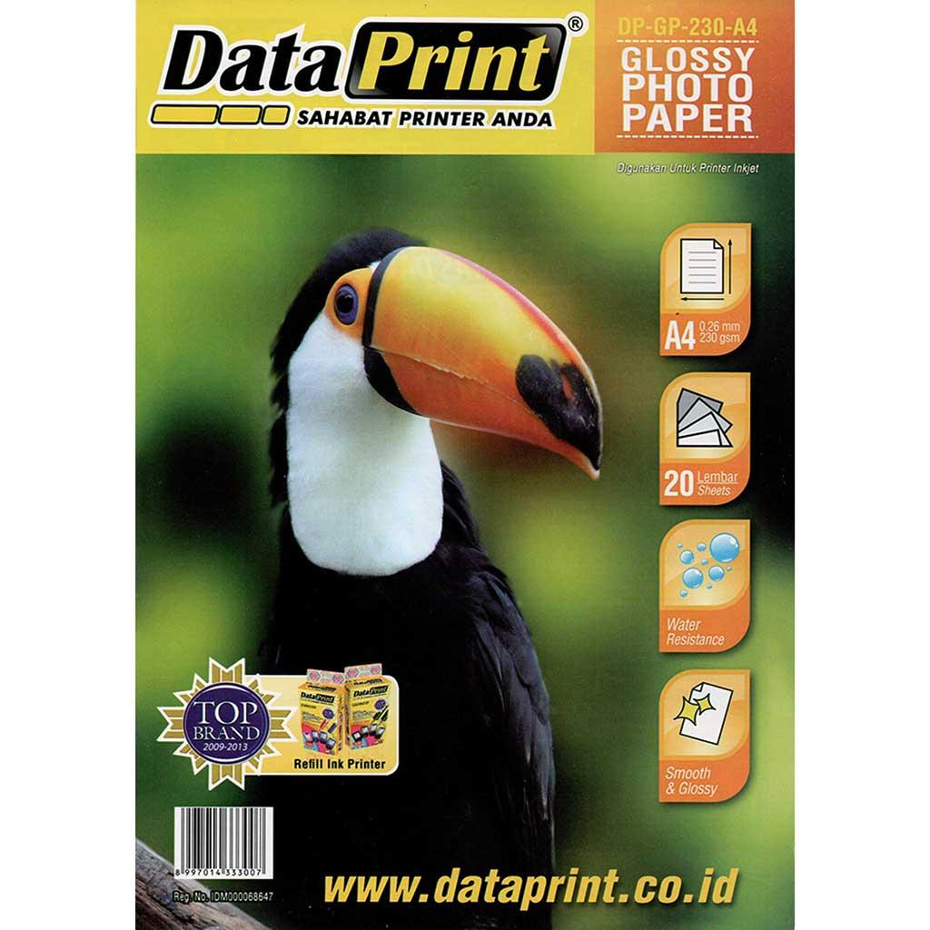 Buy Sell Cheapest Data Print A4 Best Quality Product Deals Refill Ink Dataprint Black Fast Glossy Photo Paper 230 Gram