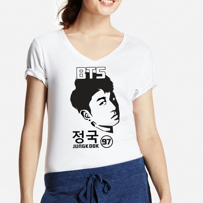 POLARISSHIRT - Tshirt BTS JUNGKOOK Tumblr Tee Cewek / Kaos Wanita / Tshirt Cewe Cotton Combad / Kaos Oblong / Trending Shirt