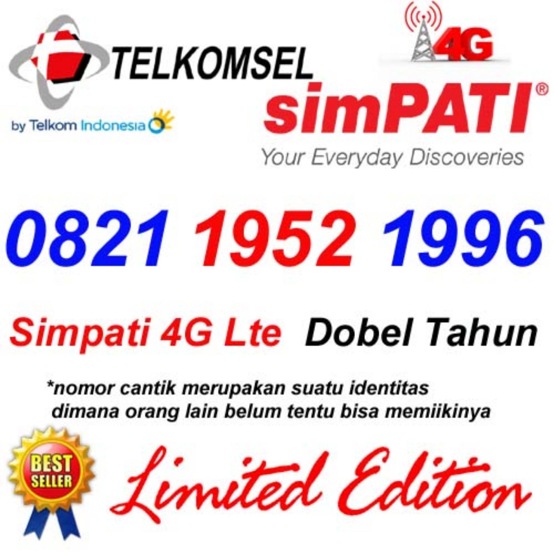 Telkomsel Simpati 4G Lte 0821 1952 1996 Kartu Perdana Nomor Cantik Dobel Tahun Lahir