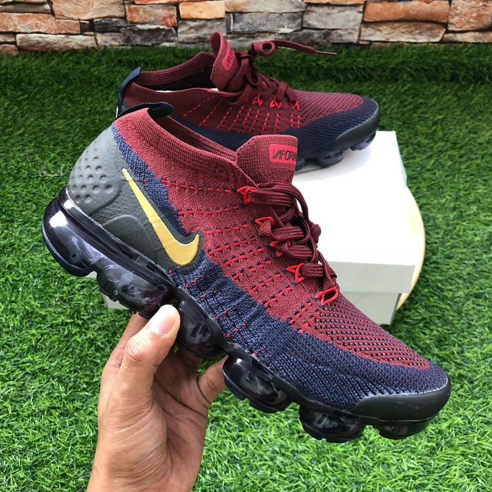 Buy Sell Cheapest Nike Vapormax 2017 Best Quality Product Deals Sepatu Jogging Sneakers 20 Burgundy Navy