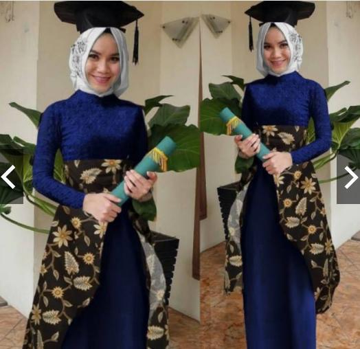 TotallyGreatShop Gamis Pesta Batik Pesta Wanita - Setelan Kebaya Batik  Modern Wisuda Formal - Gaun Pesta Party Maxi Dress Fashion Baju Kondangan lebaran Muslimah Muslim Wanita Terbaru Kekinian Hijaber Jilbab ihdini