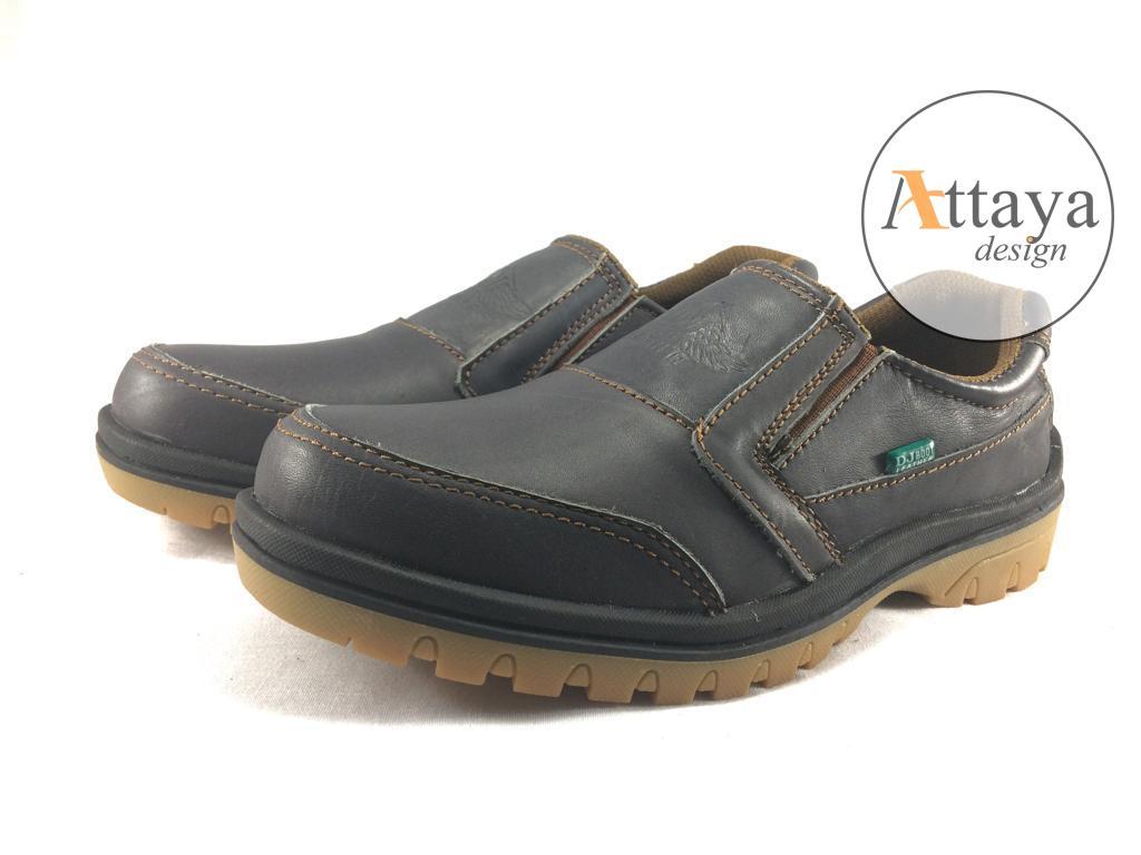 Sepatu Slip On Loafer Pria Kantor Pantofel Karet Kerja Wanita Yumeida Full Black Attaya Design Dj Boot Leather Casual Kulit Sapi Asli Sr06