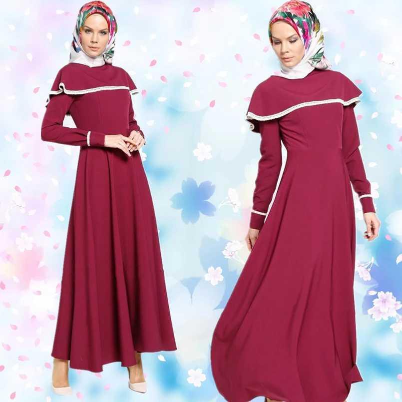 Long dress Gamis Maxi variasi Renda tangan Panjang - Vinka