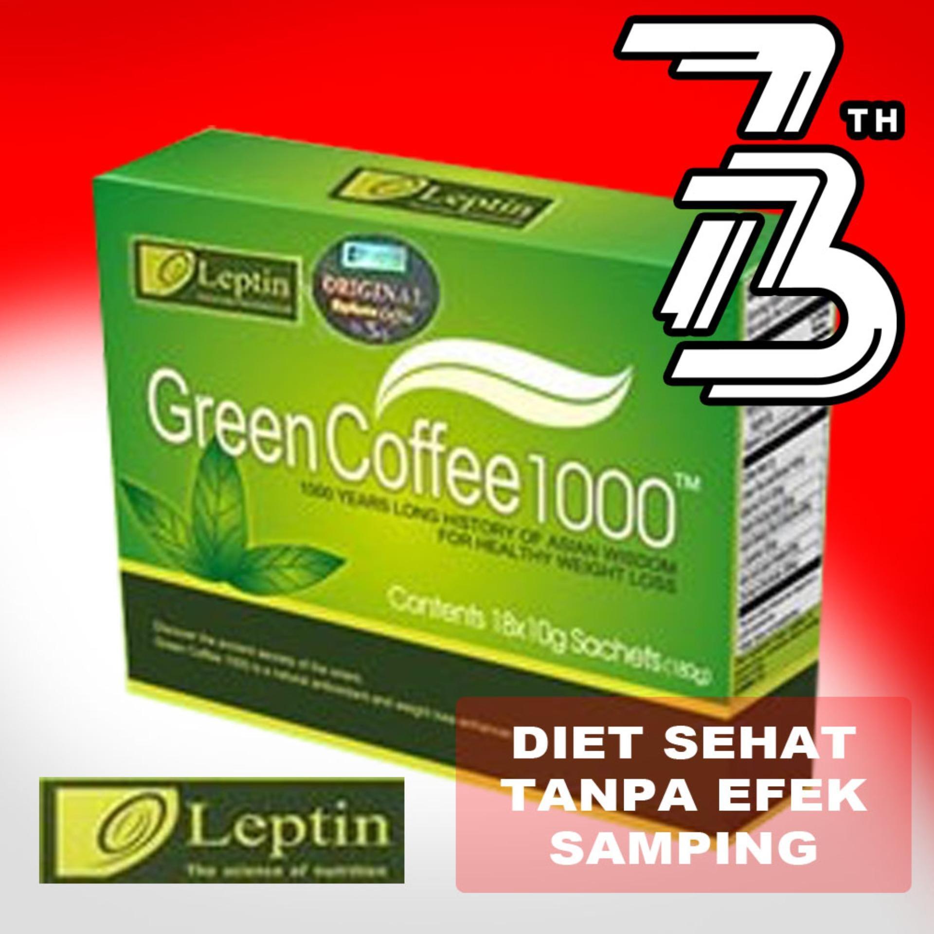 Pengatur Berat Badan Alami Obat Pelangsing Fleecy Bangle Tea Original Leptin Green Cofee 1000 1box Isi 18sachet