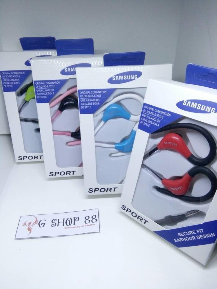 Handsfree Sport Branded Samsung Handsfree With Cantolan Telinga Pengiriman Random - Bisa Untuk Vivo V1 V3 V9 V7 V7+ V5 LITE Y65 Y67 Y69 Y53 Y25 Y51 LG Optimus G Pro 2 Lite G2 Mini G3 Stylus S G4 G6 K8 K4 LTE