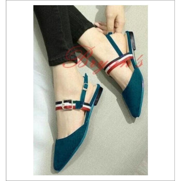 hokky shoes wanita flat shoes cewek J M26 Tosca Keche Pake Banget
