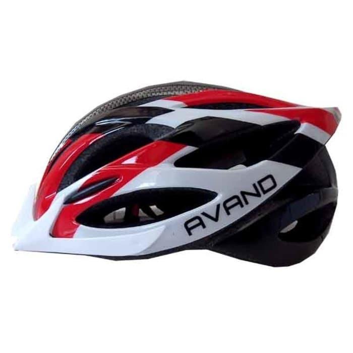 Jual Helm Sepeda Avand Merah Putih Hitam