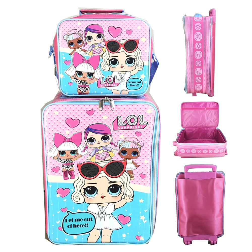 BGC Tas Koper Anak Anti Air LOL Surprise Set Dengan Lunch Bag ( 55 X 33 X 22 )