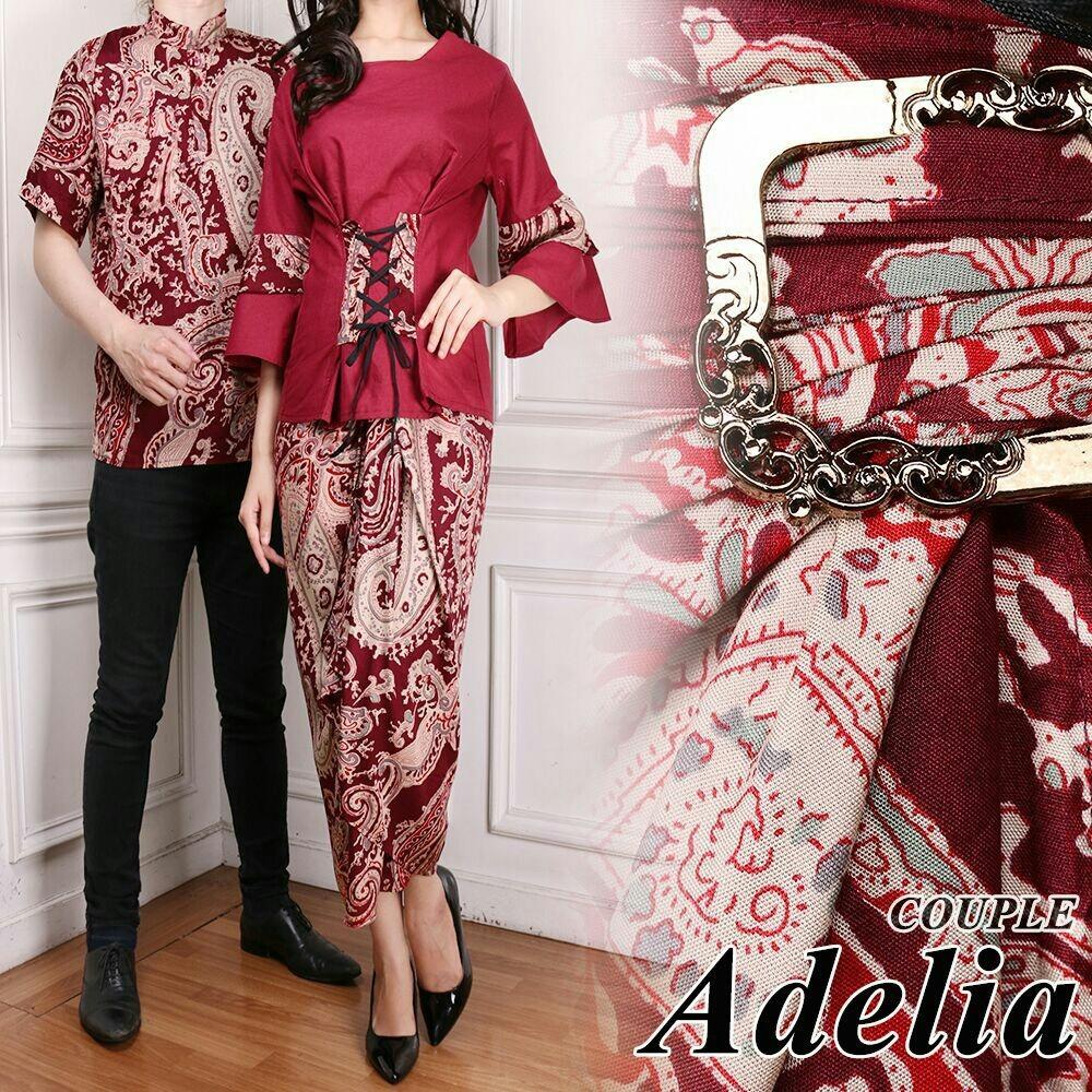 Jakarta Couple - Maxi Couple Batik Adelia / Batik Couple / Kebaya Couple /Baju Kapel