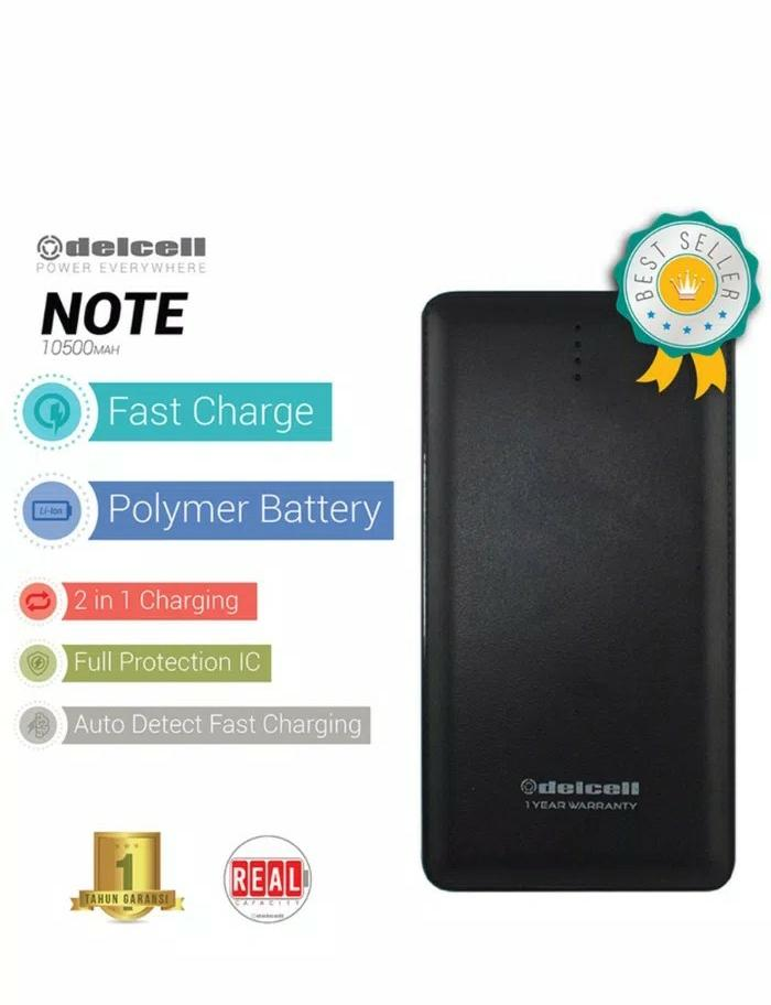 powerbank Dellcell 12000mah real capacity 1 year warranty