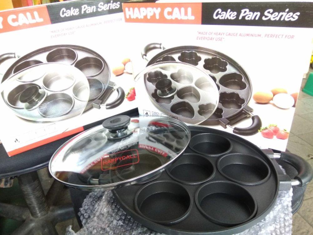Cetakan Martabak Mini 7 Lubang Happy Call Aluminium Berlapiskan Teflon