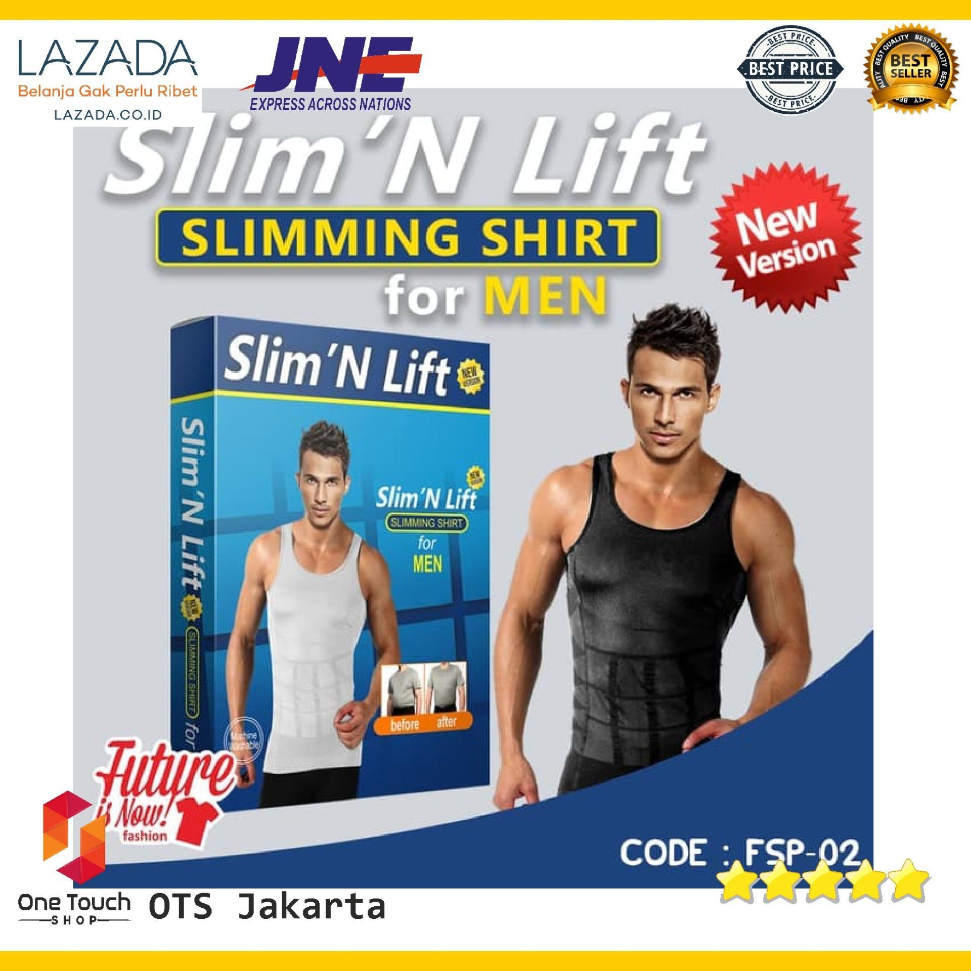 Buy Sell Cheapest Pelangsing Pria Korset Best Quality Product 4 Step Slim N Lift Fit Perut Buncit Kaos Slimming Shirt