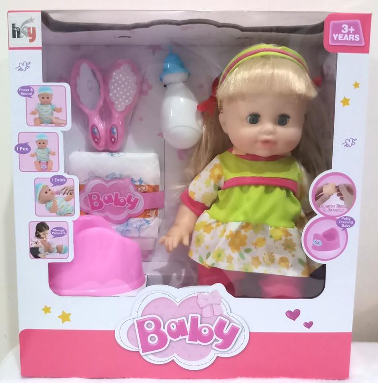 TIMMY Boneka Bayi Lucu Bisa Pipis   Ngomong   Baby Lovely 7cab1d2a02