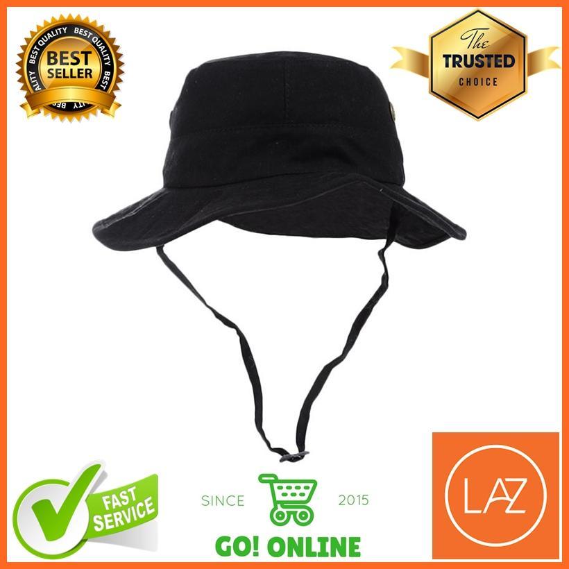 Topi Rimba / Pancing / Gunung / Outdoor Model Bolak Balik Warna Polosan