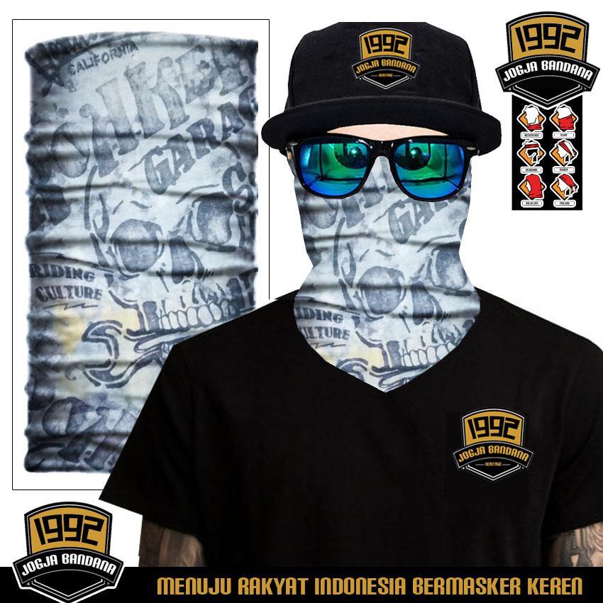 Buff (BELI 3 GRATIS 1) Masker Berkendara Scarf Pria Masker Wajah Aksesoris Olahraga Outdoor Sepeda Motor - LIMETED EDITION