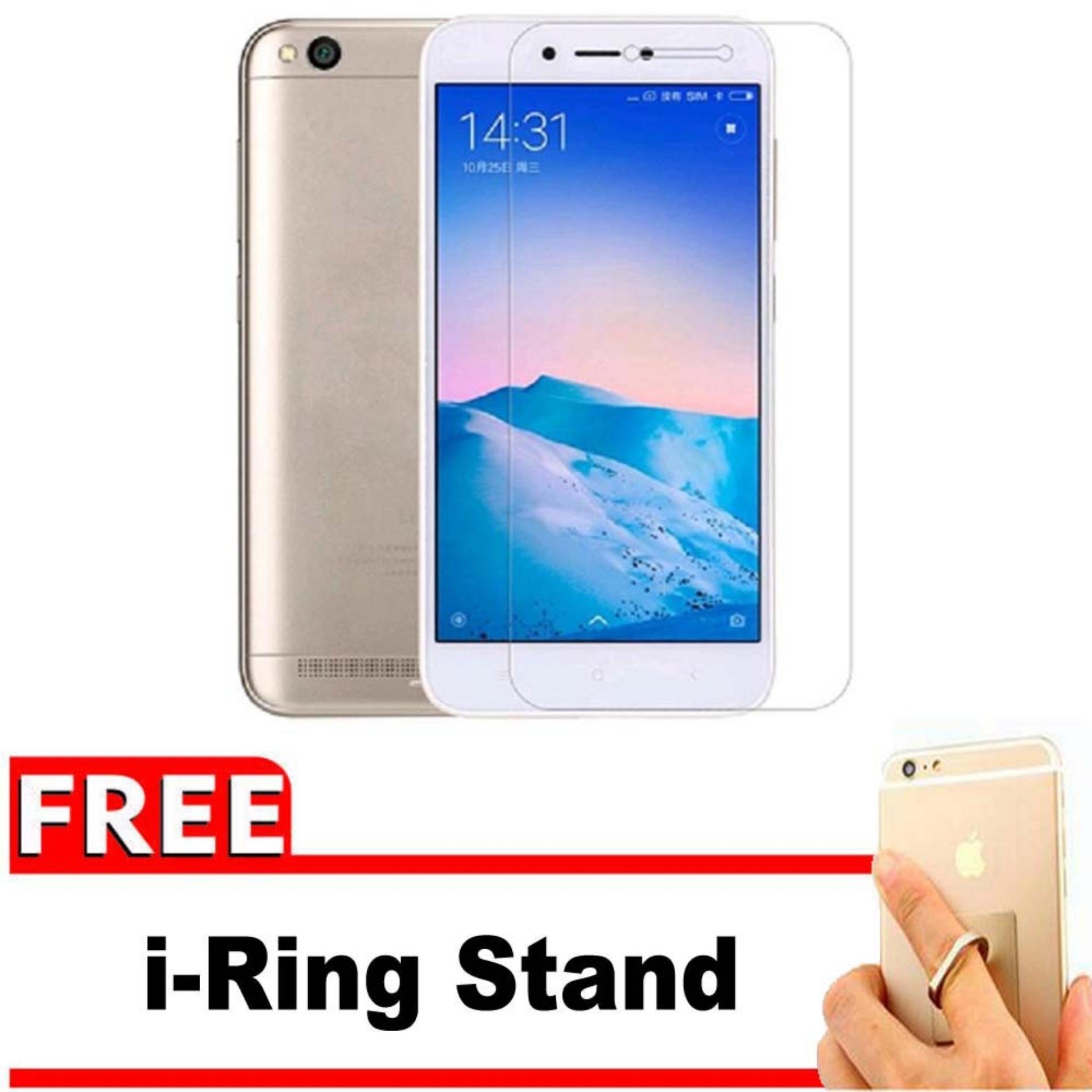 Vn Xiaomi Xioami Xiomi Redmi 5A Prime 5 Snapdragon Mediatek TAM Resmi Distributor Tempered Glass 9H Screen Protector 032mm Gratis Free IRing Stand