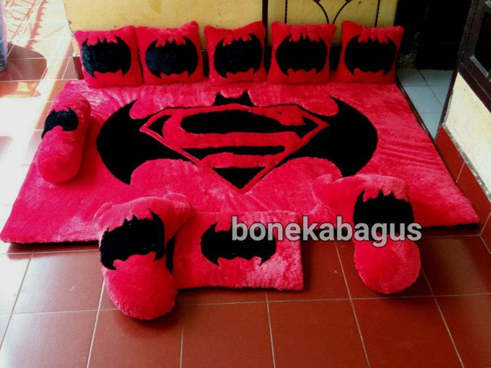 Karpet BatmanVsSuperman  Karpet Karakter Full Set # Boneka Bagus bonekabagus