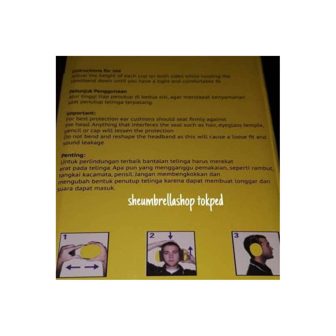 Jual Earmuff Krisbow 35Db / Pelindung Telinga / Headphone Anti Bising