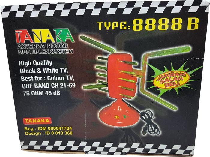 Original Antena Indoor Multiplex system UHF dan VHF Merk TANAKA 8888B