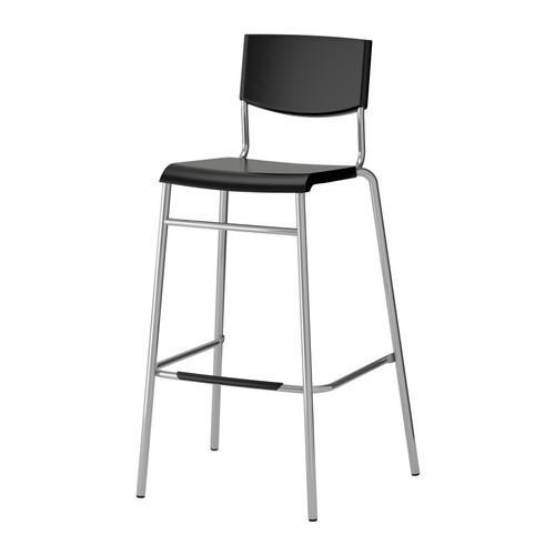 PROMO!! IKEA STIG Kursi bar 74 cm dengan sandaran, Hitam MURAH /  BUBBLE 3 LAPIS / ORIGINAL / IKEA ORIGINAL