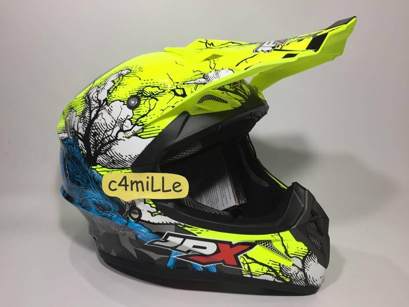 HELM JPX CROSS X14 YELLOW FLUO GLOSS TRAIL SUPER CROSS