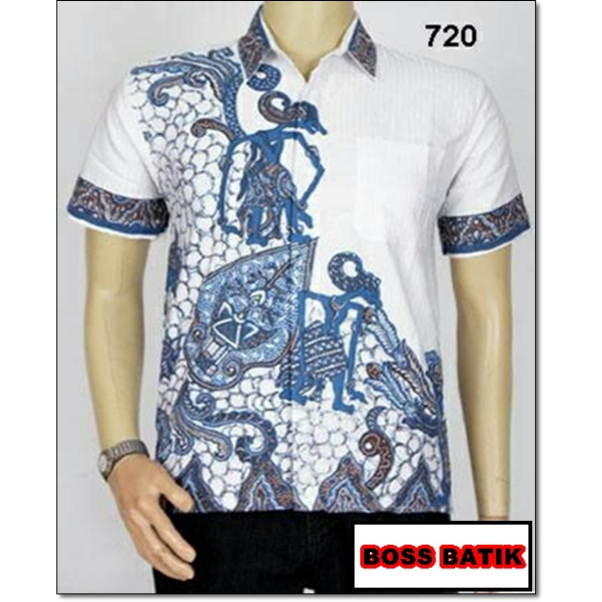 Model Baju Batik Pria Baju Batik Kantor Baju Batik Modern Baju Batik Kerja  Wayang Biru  ee7520773f