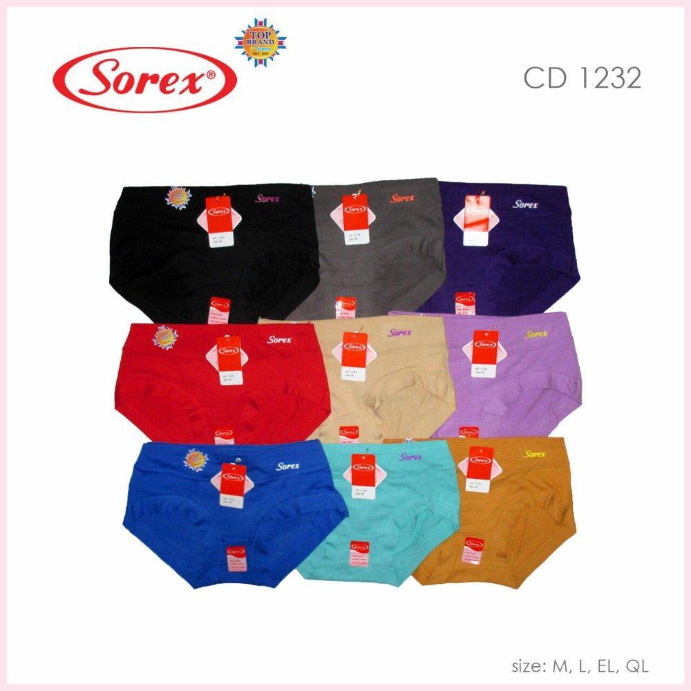 Celana Dalam Wanita Sorex T Floral 86503 6 Pcs Daftar Update Harga 6pcs Multiwarna Referensi Source Basic Midi 1232 Isi 3pcs