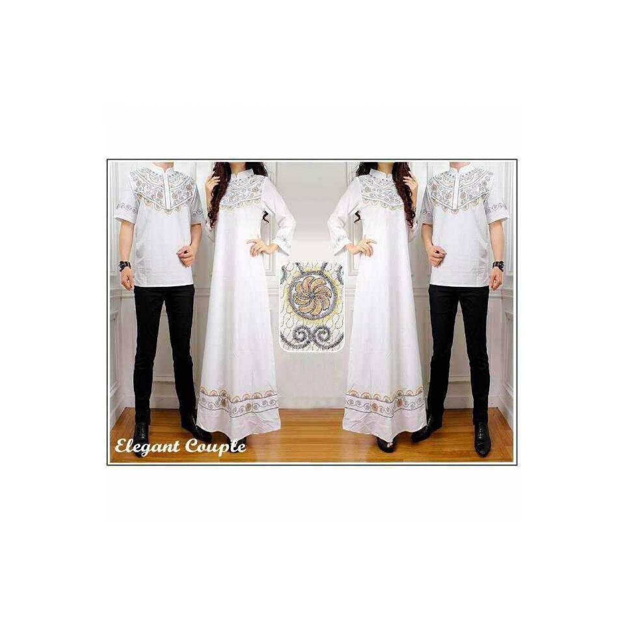 Baju koko Couple/ Gamis Couple/ Busana muslim couple Elegan Bordir