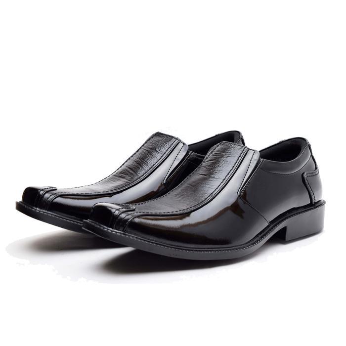 Sepatu Pantofel Pria - PREMIUM Wetan Gianyar - HARGA PROMO - Hitam, 38