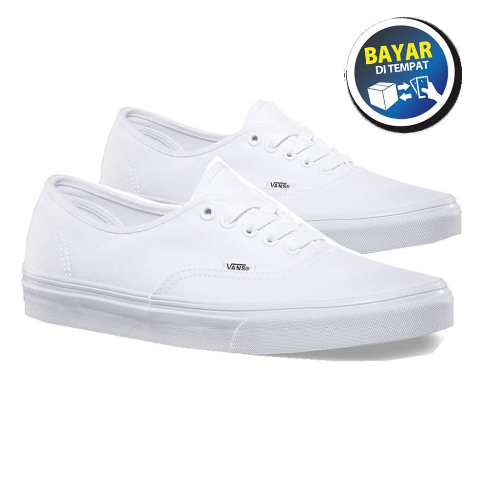 Zacksho Sepatu Vans California Authentic Sneakers casual Full Putih Sekolah  Made In Vietnam Pria dan Wanita af2e901c59