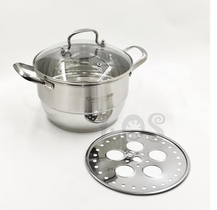 Panci Kukus Stainless Double Bottom FENVO Steamer 24cm (00313.00019)