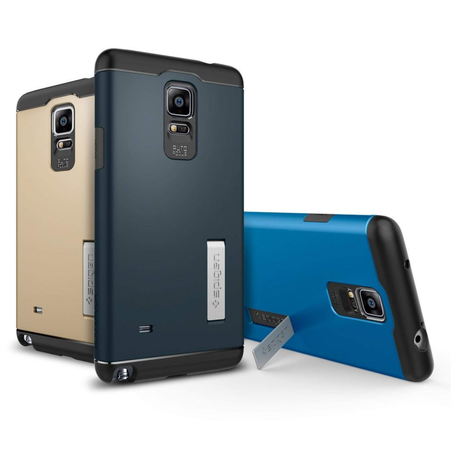 Casing Hp SGP Slim Armor + TPU Combination Case with Kickstand for Galaxy Note 4 (OEM) Murah Lucu